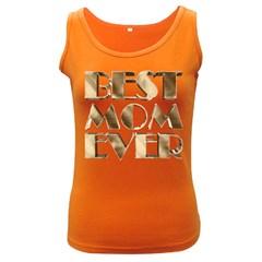 Best Mom Ever Gold Look Elegant Typography Women s Dark Tank Top