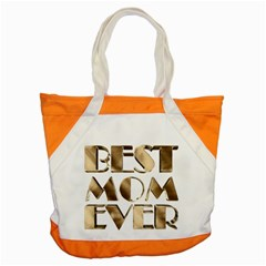 Best Mom Ever Gold Look Elegant Typography Accent Tote Bag