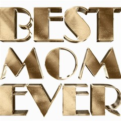Best Mom Ever Gold Look Elegant Typography Canvas 16  x 16
