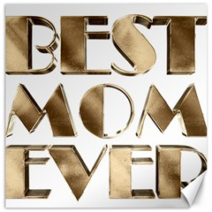 Best Mom Ever Gold Look Elegant Typography Canvas 20  x 20
