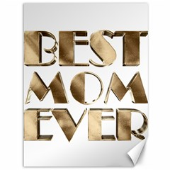 Best Mom Ever Gold Look Elegant Typography Canvas 36  x 48