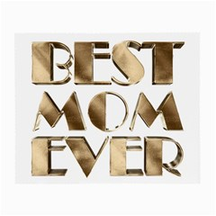 Best Mom Ever Gold Look Elegant Typography Small Glasses Cloth (2-Side)
