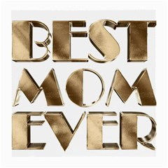 Best Mom Ever Gold Look Elegant Typography Medium Glasses Cloth