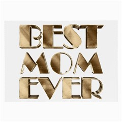 Best Mom Ever Gold Look Elegant Typography Large Glasses Cloth