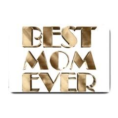 Best Mom Ever Gold Look Elegant Typography Small Doormat