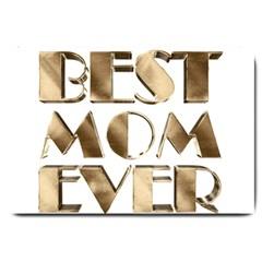 Best Mom Ever Gold Look Elegant Typography Large Doormat