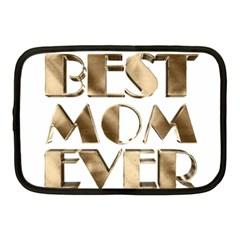 Best Mom Ever Gold Look Elegant Typography Netbook Case (Medium)