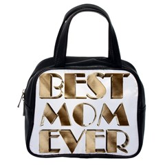 Best Mom Ever Gold Look Elegant Typography Classic Handbags (One Side)