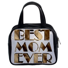 Best Mom Ever Gold Look Elegant Typography Classic Handbags (2 Sides)