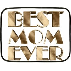 Best Mom Ever Gold Look Elegant Typography Double Sided Fleece Blanket (Mini)