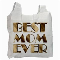 Best Mom Ever Gold Look Elegant Typography Recycle Bag (Two Side)