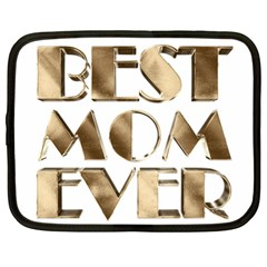 Best Mom Ever Gold Look Elegant Typography Netbook Case (XL)