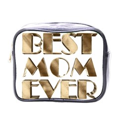 Best Mom Ever Gold Look Elegant Typography Mini Toiletries Bags