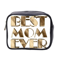 Best Mom Ever Gold Look Elegant Typography Mini Toiletries Bag 2-Side