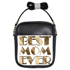 Best Mom Ever Gold Look Elegant Typography Girls Sling Bags