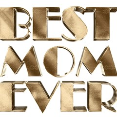 Best Mom Ever Gold Look Elegant Typography Magic Photo Cubes