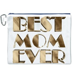 Best Mom Ever Gold Look Elegant Typography Canvas Cosmetic Bag (XXXL)