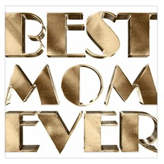 Best Mom Ever Gold Look Elegant Typography Large Satin Scarf (Square)