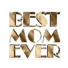 Best Mom Ever Gold Look Elegant Typography Small Satin Scarf (Square)