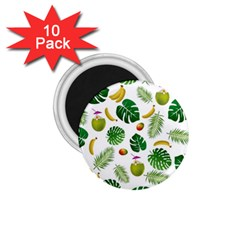 Tropical pattern 1.75  Magnets (10 pack)