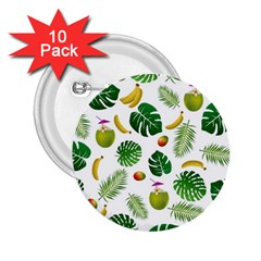 Tropical pattern 2.25  Buttons (10 pack)