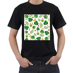 Tropical pattern Men s T-Shirt (Black) (Two Sided)