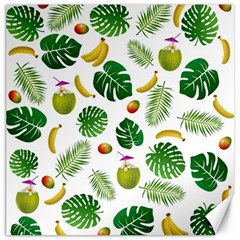 Tropical pattern Canvas 16  x 16