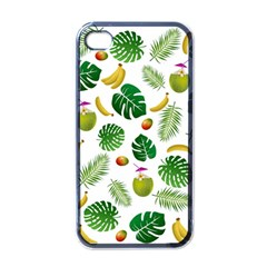 Tropical pattern Apple iPhone 4 Case (Black)
