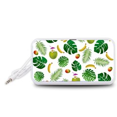 Tropical pattern Portable Speaker (White)