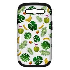 Tropical pattern Samsung Galaxy S III Hardshell Case (PC+Silicone)