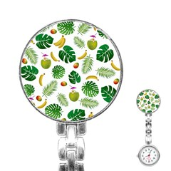 Tropical pattern Stainless Steel Nurses Watch