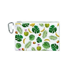 Tropical pattern Canvas Cosmetic Bag (S)