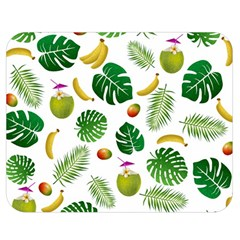 Tropical pattern Double Sided Flano Blanket (Medium)
