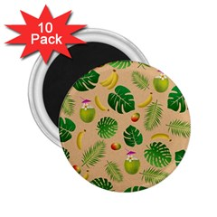 Tropical pattern 2.25  Magnets (10 pack)