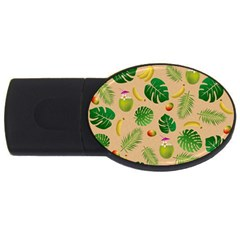 Tropical pattern USB Flash Drive Oval (2 GB)