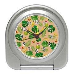 Tropical pattern Travel Alarm Clocks