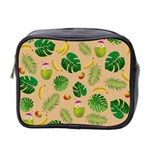 Tropical pattern Mini Toiletries Bag 2-Side Front