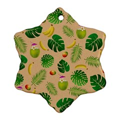 Tropical pattern Ornament (Snowflake)