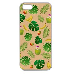 Tropical pattern Apple Seamless iPhone 5 Case (Clear)