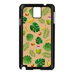 Tropical pattern Samsung Galaxy Note 3 N9005 Case (Black)
