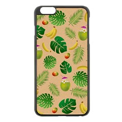 Tropical pattern Apple iPhone 6 Plus/6S Plus Black Enamel Case