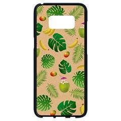 Tropical Pattern Samsung Galaxy S8 Black Seamless Case