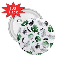 Tropical pattern 2.25  Buttons (100 pack)