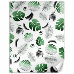 Tropical pattern Canvas 12  x 16
