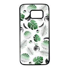 Tropical pattern Samsung Galaxy S7 Black Seamless Case
