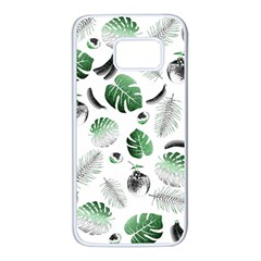 Tropical Pattern Samsung Galaxy S7 White Seamless Case