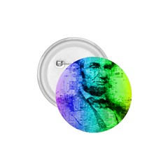 Abraham Lincoln Portrait Rainbow Colors Typography 1.75  Buttons