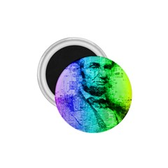 Abraham Lincoln Portrait Rainbow Colors Typography 1.75  Magnets