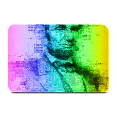 Abraham Lincoln Portrait Rainbow Colors Typography Plate Mats