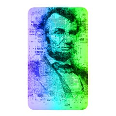 Abraham Lincoln Portrait Rainbow Colors Typography Memory Card Reader